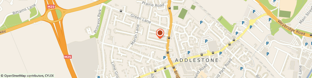 Route/map/directions to 989 Design Ltd, KT15 1UG Addlestone, The Studio, 30 Chapel Grove