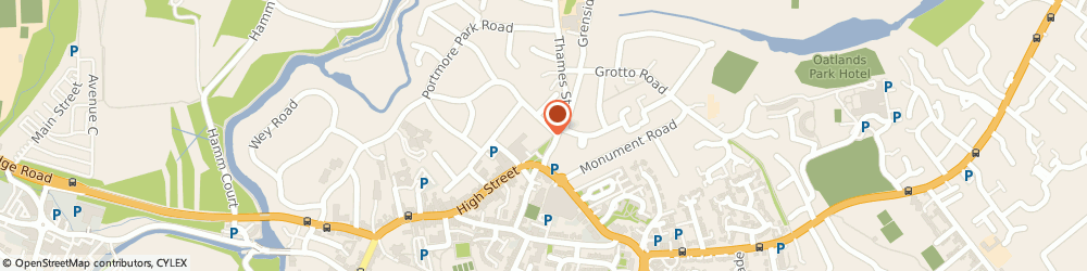 Route/map/directions to The Footcare Centre, KT13 8QS Weybridge, 8 Monument Green