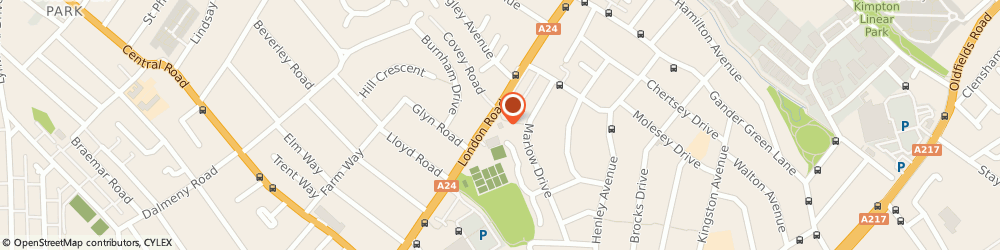 Route/map/directions to Icon Accountants Limited, SM3 9BY Sutton, 662 London Rd, Capitol House