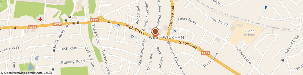 Route/map/directions to Rbs Royal Bank Of Scotland Atm, BR4 0LR West Wickham, 33 High Street
