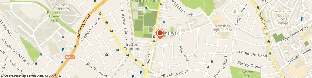 Route/map/directions to Datastor Ltd, SM1 3EW Sutton, 58 Angel Hill