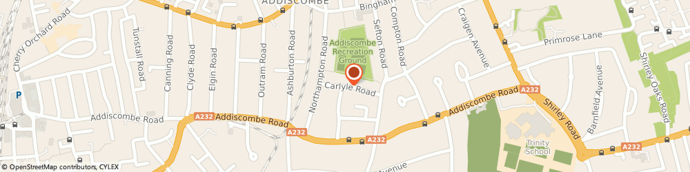 Route/map/directions to Rosehill House Residential Home Ltd, CR0 7HN Croydon, 4 CARLYLE ROAD