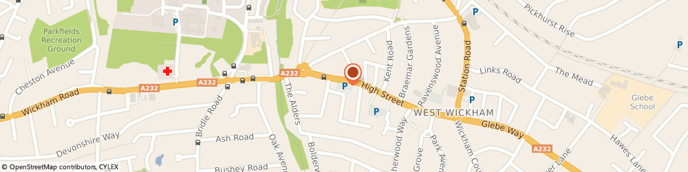 Route/map/directions to Sainsbury's, BR4 0LU West Wickham, 143-165 High Street