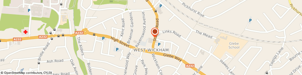 Route/map/directions to Station Road Surgery, BR4 0PU West Wickham, 74 Station Road