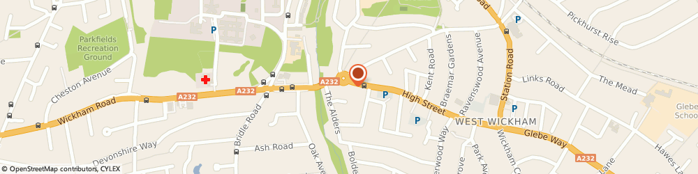 Route/map/directions to Travis Perkins, BR4 0PH West Wickham, 205 High Street