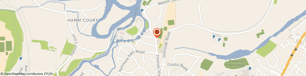 Route/map/directions to P S Communications, KT13 8LD Weybridge, WHITTETS EYOT/P S C HOUSE, JESSAMY ROAD