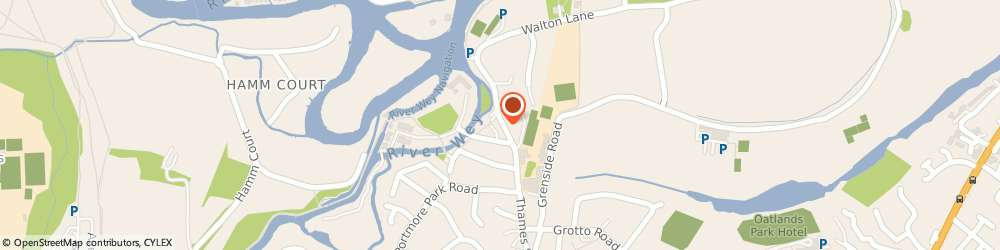 Route/map/directions to The Old Crown, KT13 8LP Weybridge, 83 Thames St