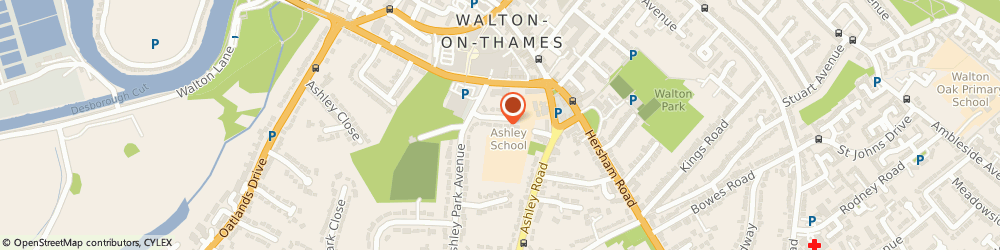 Route/map/directions to Cakes & Drapes, KT12 1EX Walton-On-Thames, 17 Ashley Park Crescent