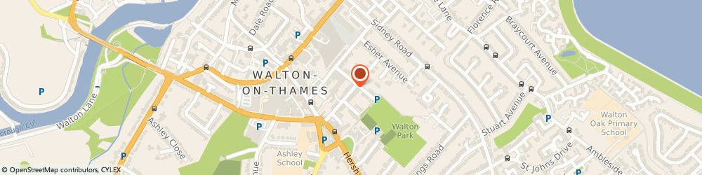 Route/map/directions to Denise Collie, KT12 2RG Walton-On-Thames, 35 WINCHESTER ROAD