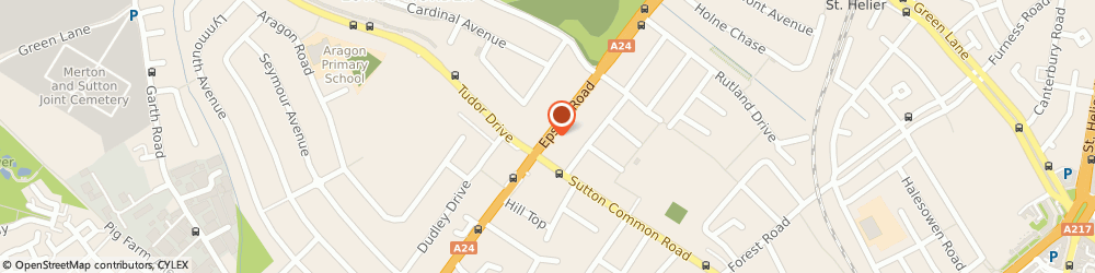 Route/map/directions to Imperial Pharmacy, SM3 9EY Sutton, 139-141 Epsom Road
