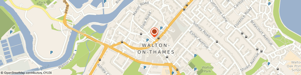 Route/map/directions to Pevgate Properties Limited, KT12 1AE Walton-On-Thames, 9 BRIDGE STREET