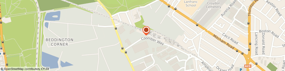 Route/map/directions to CEMEX Croydon Concrete Plant, CR0 4TQ Croydon, Coomber Way
