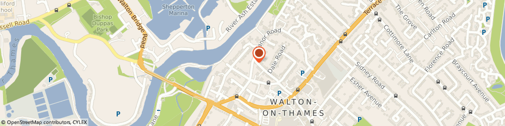 Route/map/directions to Toad Hall Nursery, KT12 2PH Walton-On-Thames, Manor Rd