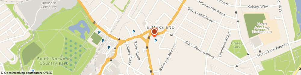 Route/map/directions to Ladbrokes Gaming - Elmers End, BR3 3QZ Beckenham, 3 Goodwood Parade, Upper Elmers End Road