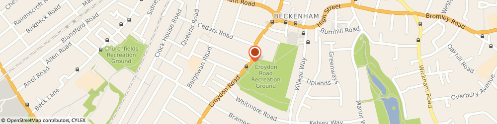 Route/map/directions to Beckenham Chiropractic Clinic, BR3 4EX Beckenham, 366 CROYDON ROAD
