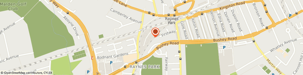 Route/map/directions to Toomey Scaffolding Ltd, SW20 0JY London, Unit 1D, Rainbow Industrial park
