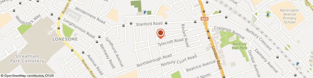 Route/map/directions to Sofiaschildminding, SW16 4SY London, Norton Gardens