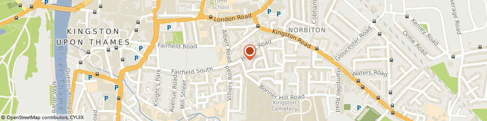 Route/map/directions to Kami's Barber Shop, KT1 3EG Kingston Upon Thames, 2A Hawks Rd