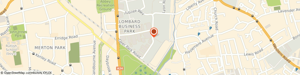 Route/map/directions to Saunderson Security, SW19 3GY London, 8 Deer Park Rd, Zeal House
