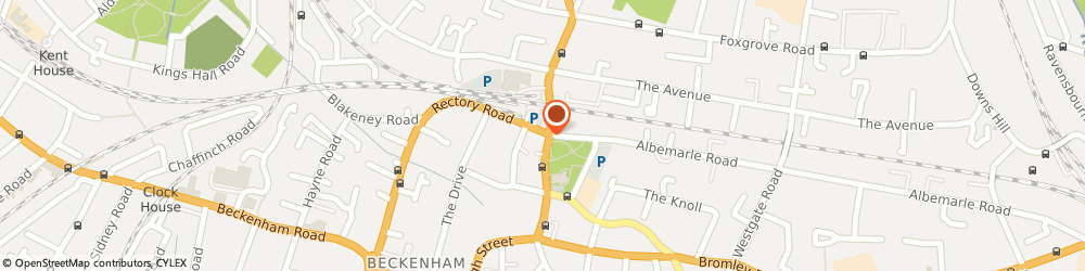 Route/map/directions to NU:YU BEAUTY ROOMS, BR3 1HL Beckenham, 1-3 Rectory Rd