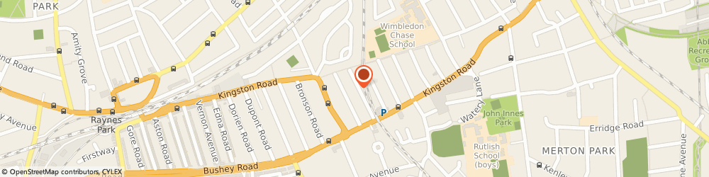 Route/map/directions to The Point Of Difference, SW20 8LU London, 4, Chase Side Avenue