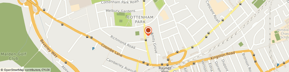 Route/map/directions to Freestyle Martial Arts, SW20 0DE London, St Mathews Church Hall, Durham Road