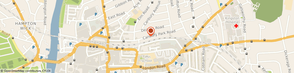 Route/map/directions to Reckitt Benckiser, KT2 6LZ Kingston Upon Thames, CANBURY PARK ROAD