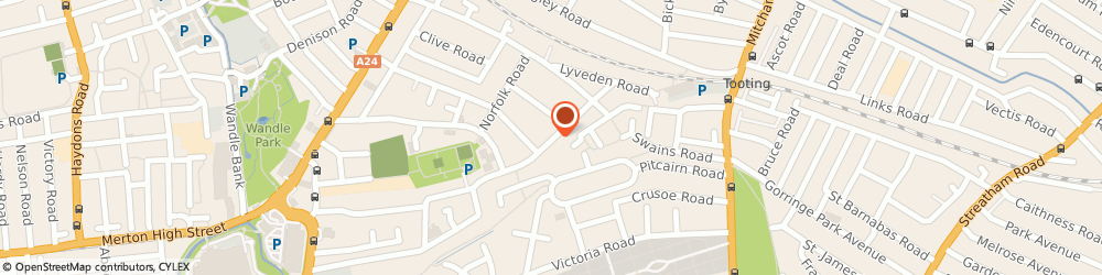 Route/map/directions to J A C Personal Tax Services, SW19 2EN London, 4 DEVONSHIRE ROAD