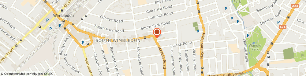 Route/map/directions to GRANGE TRAINING LIMITED, SW19 1ED London, 117 Merton Road