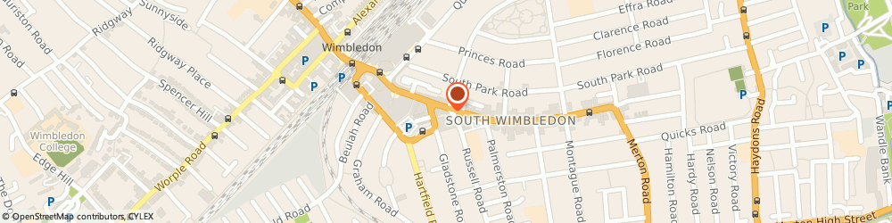 Route/map/directions to Kvs Associates Ltd, SW19 1QE London, 89A THE BROADWAY