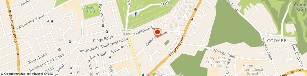 Route/map/directions to Kingston Riding Centre, KT2 7RG Kingston Upon Thames, 38 Crescent Rd