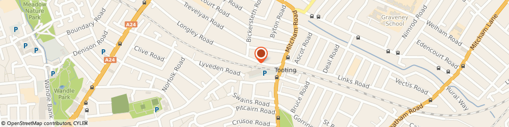 Route/map/directions to W.W. Scaffolding Limited, SW17 9JQ London, 241 MITCHAM ROAD, TOOTING JUNCTION