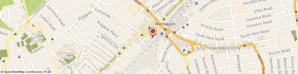 Route/map/directions to Sandoren Limited, SW19 4EU London, 2ND FLOOR TUITION HOUSE, 27-37 ST GEORGES ROAD