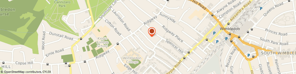 Route/map/directions to MRS MARY OWUSU-HIRSCH - PSYCHOTHERAPIST, SW19 4PG London, Denmark Road