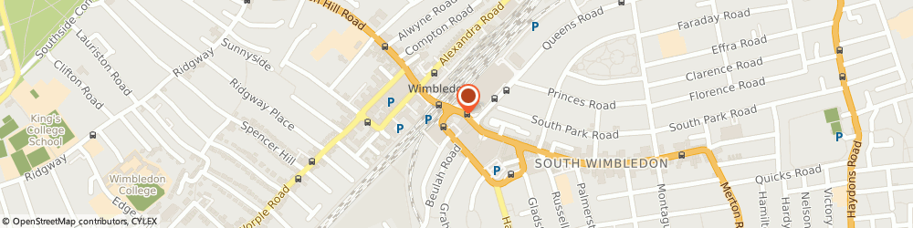 Route/map/directions to Timpson, SW19 1PS London, SNAPPY SNAPS 5 THE BROADWAY WIMBLEDON
