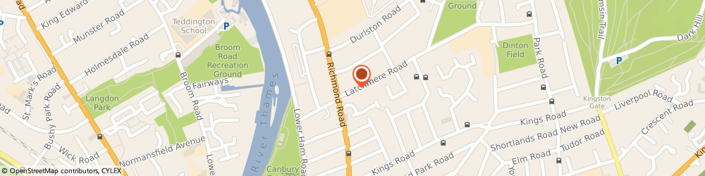 Route/map/directions to Mrs Anthea Pell Kingston Upon Thames, KT2 5TP Kingston Upon Thames, 3 Latchmere Road