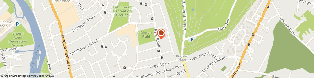 Route/map/directions to Mrs Clare Prichard Kingston Upon Thames, KT2 5JZ Kingston Upon Thames, 106 Park Road