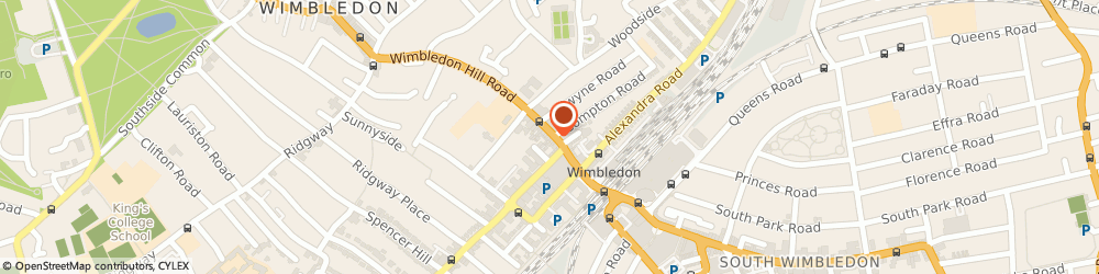 Route/map/directions to Moss and Co Ltd, SW19 7PA London, 42 Wimbledon Hill Road