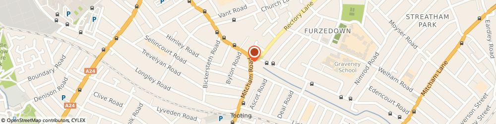Route/map/directions to Saxon Security Locks, SW17 9NN London, 208D Mitcham Rd