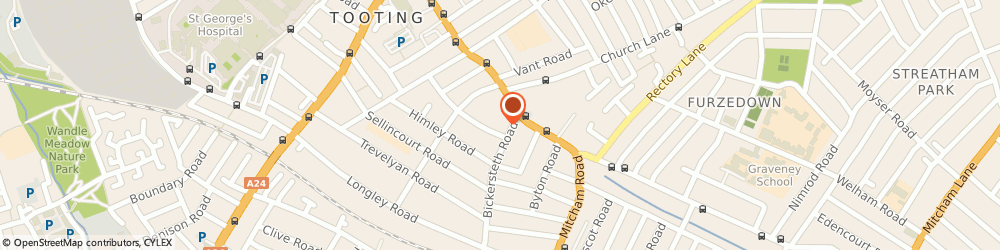 Route/map/directions to Beaver Pest Control - Bed Bug Control, SW17 9SH London, 89 Bickersteth Road, Tooting