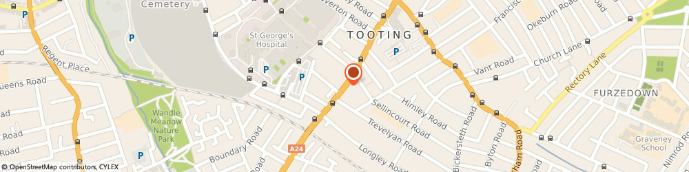 Route/map/directions to EKS Party Shop, SW17 0RT London, 164 TOOTING HIGH STREET