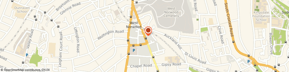 Route/map/directions to Travis Perkins, SE27 9JS London, 61-79 Norwood High Street