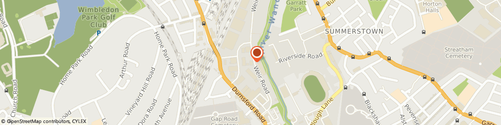 Route/map/directions to Travis Perkins, SW19 8UG London, 9 Weir Road