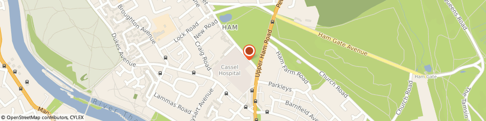 Route/map/directions to Ms Rebecca Neeld - Psychotherapist, TW10 7JF Richmond, CASSEL HOSPITAL, 1 HAM COMMON