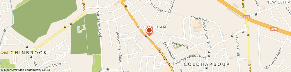 Route/map/directions to A & E Property Office, SE9 4SR London, 18 Geffery's Court, 158 Mottingham Road