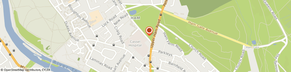 Route/map/directions to Cassel Hospital, TW10 7JF Richmond, 1 Ham Common