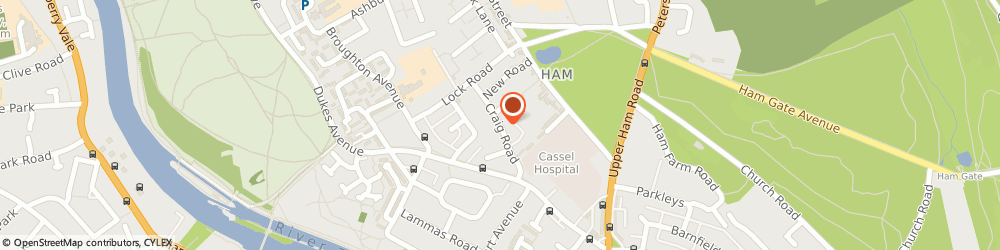 Route/map/directions to Craig House Residential Care, TW10 7LS Richmond, Craig Road