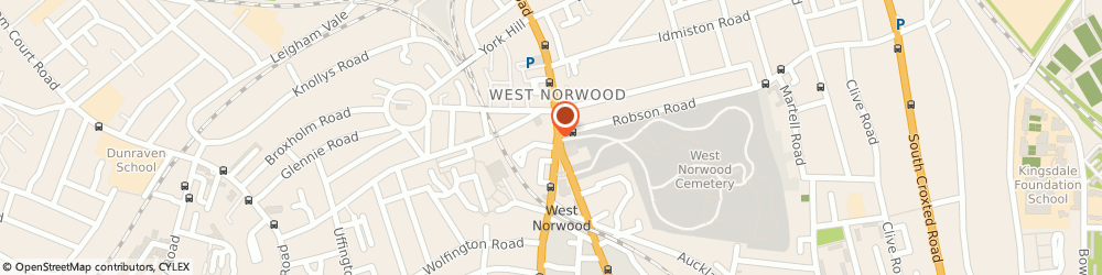 Route/map/directions to smith yeatman West Norwood, SE27 9AA London, 384 Norwood Road