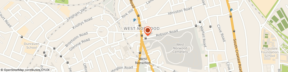 Route/map/directions to Local Locksmith West Norwood, se27 9af London, 549 Norwood Road