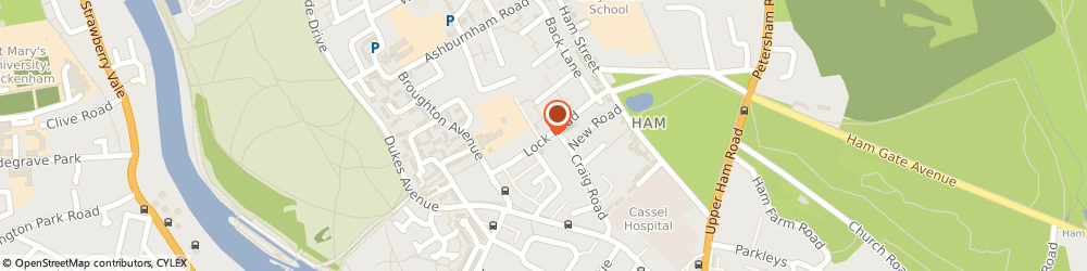 Route/map/directions to Lock Road Surgery, TW10 7LJ Richmond, 55A Lock Road